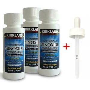 Kirkland Minoxidil 5% Extra Strength 3 Month Supply w/Dropper Mens Hair CHOP