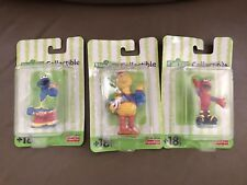 Vintage 2001 Fisher Price Sesame Street Figures Big Bird Elmo Cookie Monster NEW