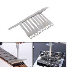 9pcs/set Understring Radius Gauge Metal For Bass and Guitar Setup Luthier Tools
