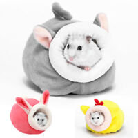 Cute Winter Warm Hamster Rat Squirrel Nest Bed House Small Animal Cave Cage Gray