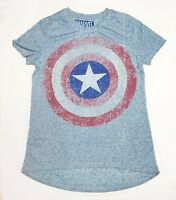 Marvel Captain America Shield -Women's Small Light Blue T-Shirt