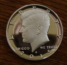 2015 S CAMEO SILVER PROOF KENNEDY HALF DOLLAR