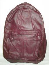 Vintage Leather Backpack School Book Bag Daypack BAJA CALIFORNIA