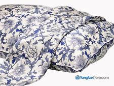 100% Silk Pillowcase Blue and White Floral Print PC04
