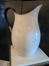 More details for butler jones & louis 1939 antique enamel pitcher jug large farmhouse