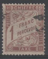 "FRANCE STAMP TIMBRE TAXE N° 25 "" TYPE DUVAL 1F MARRON "" OBLITERE TB N374"