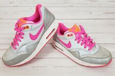 Nike Air Max 1 (GS) Women s Silver   Pink Casual Trainers UK 4 ( ce1e8ed2f