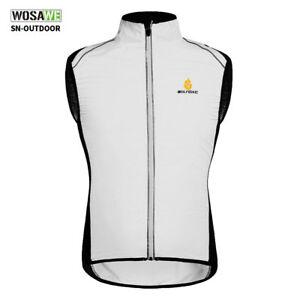Mens Cycling Gilet Wind Jacket MTB Bike Long Sleeve Sleeveless Coat Hi Viz Tops