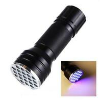 21 LED 395 nM UV Ultra Violet Blacklight Flashlight For CSI Inspection Light