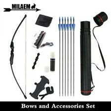 40lbs Recurve Bow Accessories Set Straight Bow Archery High Strength Fiberglass