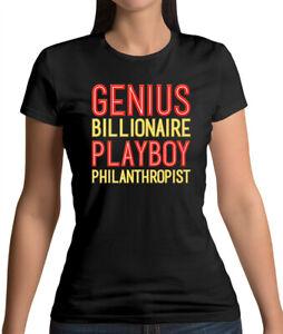 Genius Billionaire Playboy Philanthropist - Womens T-Shirt - Film - Comic - Hero