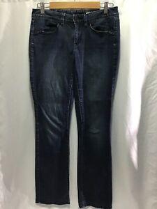 Jag Blue Studded Denim Mid Rise Slim Boot Cut womens jeans size 9