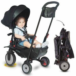 4895211402288 Składany rowerek dziecięcy/wózek Smart Trike 8w1 STR7 - czarny sma