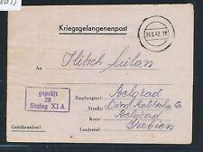 03033) KRIEGSGEFANGENENPOST BRF STALAG XI A vieux. Grabow 1942 > La Serbie