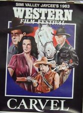 Simi Valley Jaycee's Western Film Festival Carvel Original Single Sided Poster