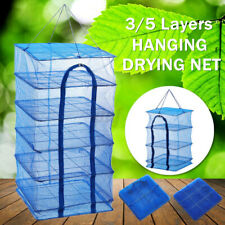 3/5 Layers Hanging Dry Rack Grow Net Dryer Shelf Hydroponics Herb Drying