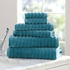 Mainstays Performance Textured 6-Piece Bath Towel Set - Coolwater
