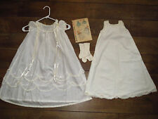 1950 Vintage Christening Gown & Slip HANDMADE + Original Simplicity Pattern 4905