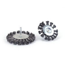 """1/4"""" Shank Twisted Wire Wheel Brush Die Grinder Power Drill for Metal 2Pcs 3"""" 4"""""""