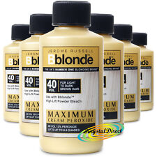 6x JEROME RUSSELL BBLONDE CREAM PEROXIDE 40vol 12% 75ml