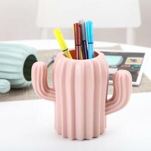 Cactus Pen Pot Holder Office Desk Organiser Desktop Storage Pencil UK