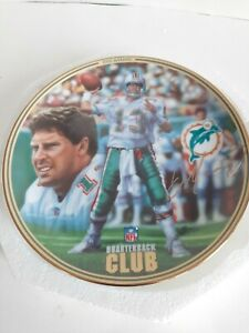 Dan Marino NFL Quarterback Club Bradford Exchange 1996 Collector Plate with COA