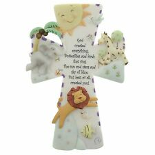 Wall Cross God Created Everything 7 Inch Hanging Crosses Baby Decor Religion