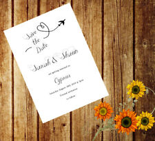 Personalised Handmade Wedding Save the Date Evening Cards Abroad ASD12