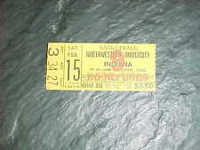 1969 Northwestern Wildcats v Indiana Hoosiers Basketball Ticket 2/15