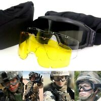 Tactical Goggles Black Tan Green Airsoft Usmc Sunglasses Army Paintball Military