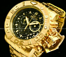 NEW Invicta SEA HUNTER Gen II 70MM SWISS MOVT 18K Gold Plated Chrono S.S Watch