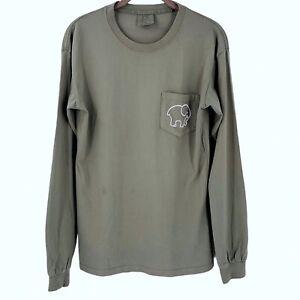 IVORY ELLA Green Cotton Jersey Long Sleeve T-Shirt Size Small