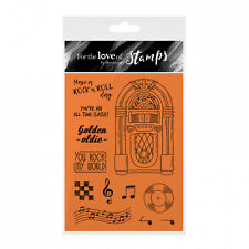 ROCK 'N' Roll Juke-Box-Pour l'amour de timbres Clear Stamp Set-Hunkydory