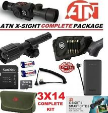 ATN X Sight II 2 HD IR Night Vision 3-14 Rifle Scope Predator Complete Kit
