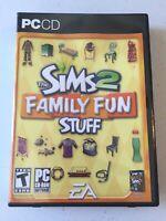 SIMS 2: Family Fun Stuff (PC, 2006)  GAME PC CD-ROM