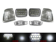 Full LED High+Low H6054 7x6 Headlight + Clear Corner+Bumper For 89-91 Pickup 2WD