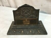Antique 1932 Phoenix Fire Insurance of London Brass Desk Calendar 150th Annivers