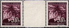 Bohemia y Moravia 24 pareja con papel en el medio nuevo 1939 sellos
