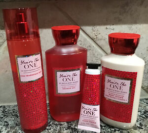 BATH and BODY YOU'RE THE ONE 4pcFragrance Mist,Shower Gel,Body Lotion,Hand Cream