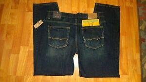 American Eagle Slim Straight Dark Blue Jeans Size 36x32 NWT