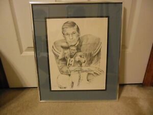 1990's Johnny Unitas Autograph Limited Edition Print from Charlotte, NC Show