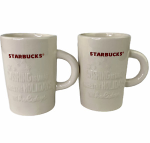 Starbucks 2010 Wishing Is What Makes The Holidays 10oz Christmas Coffee Cup 2