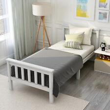 Kinderbett Weiß Einzelbett 90x200cm Jugendbett mit Lattenrost Massivholzbett
