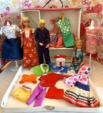 Vintage Barbie Skipper & Friends Doll & Case With Clothes Big Lot