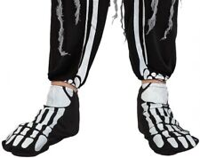 Mens Ladies Skeleton Bones Shoe Covers Halloween Costume Outfit Accessory
