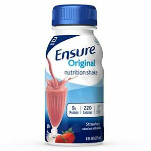 Ensure Original Nutrition Shake With 9g of Protein Meal Shakes Strawberry 8 f...