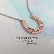 Mint Authentic Tiffany & Co. 1837 Horseshoe Rubedo Metal Silver Necklace