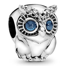 "PANDORA Charm Element 798397 NBCB ""Sparkling Owl"" Eule Silber Bead"