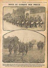 Poilus Casque Adrian des Preux Revue Militaire Bataille de la Marne WWI 1915