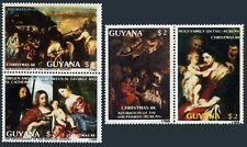 Guyana 1991-1991 ab pairs,1993,MNH. Christmas 1988.Paintings by Titian,Rubens.
